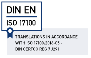 Translations according to ISO 17100
